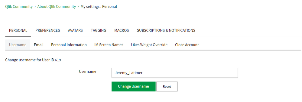 My Settings - Personal - Username.png