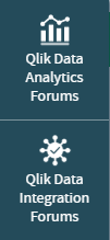 Analytics Forums & Integration Forums Buttons