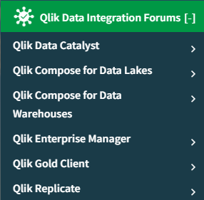 Data Integration Forums Nav