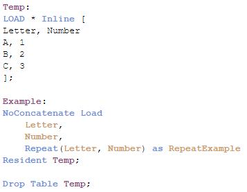 Repeat Function - Qlik Community