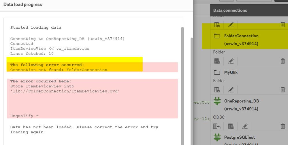 Solved: QlikSense Problem with Folderconnection - Qlik Community