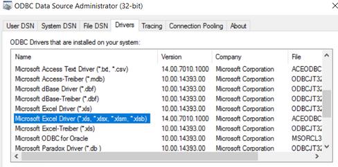 Solved: Still error with UDC Excel ODBC after all informat